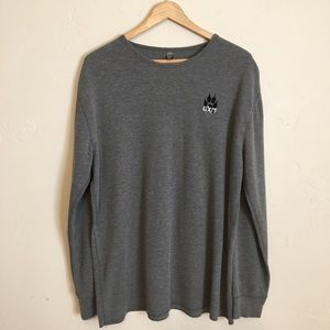 District | Long Sleeve Thermal Paw Embroidered